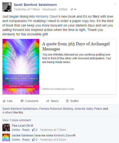 Testimonial for 365 Days of Archangel Messages 2