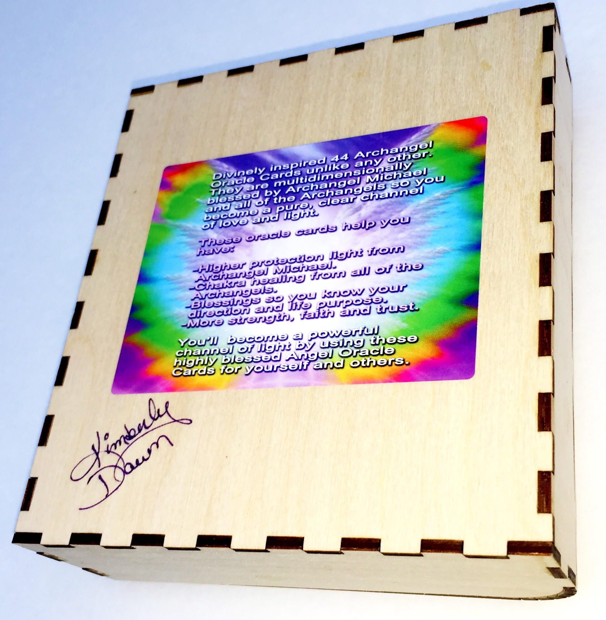 Archangel Oracle Cards Autographed Box by Kimberly Dawn 1