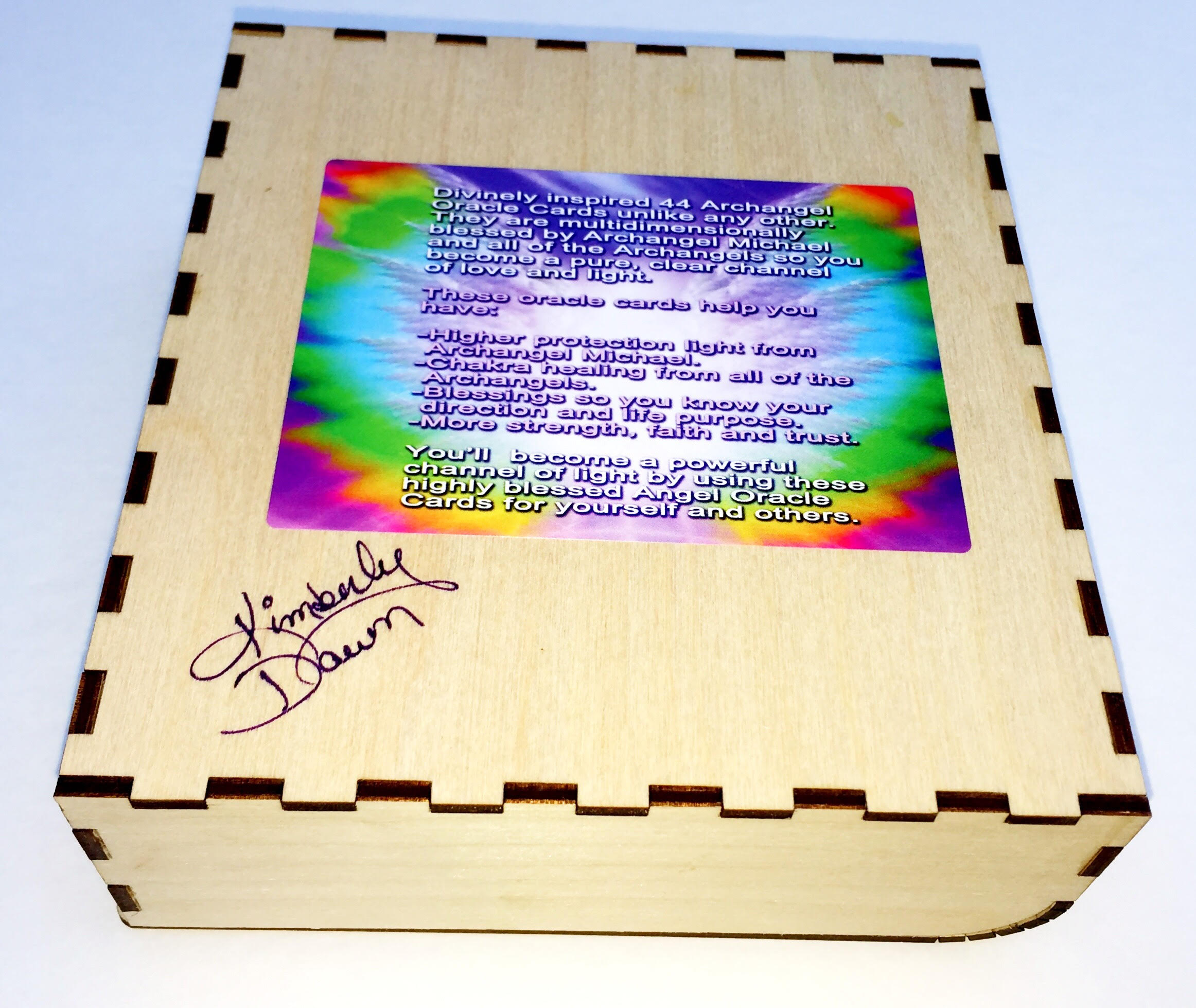 Archangel Oracle Cards Autographed Box by Kimberly Dawn 2