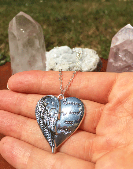 Love Heart Wings - Archangel Michael (Blessed) Protection Necklace