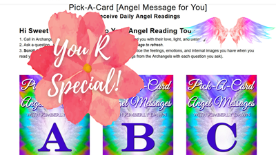 Pick A Card – Angel Reading – Special Messages From Your Angels [Timeless Reading] Video